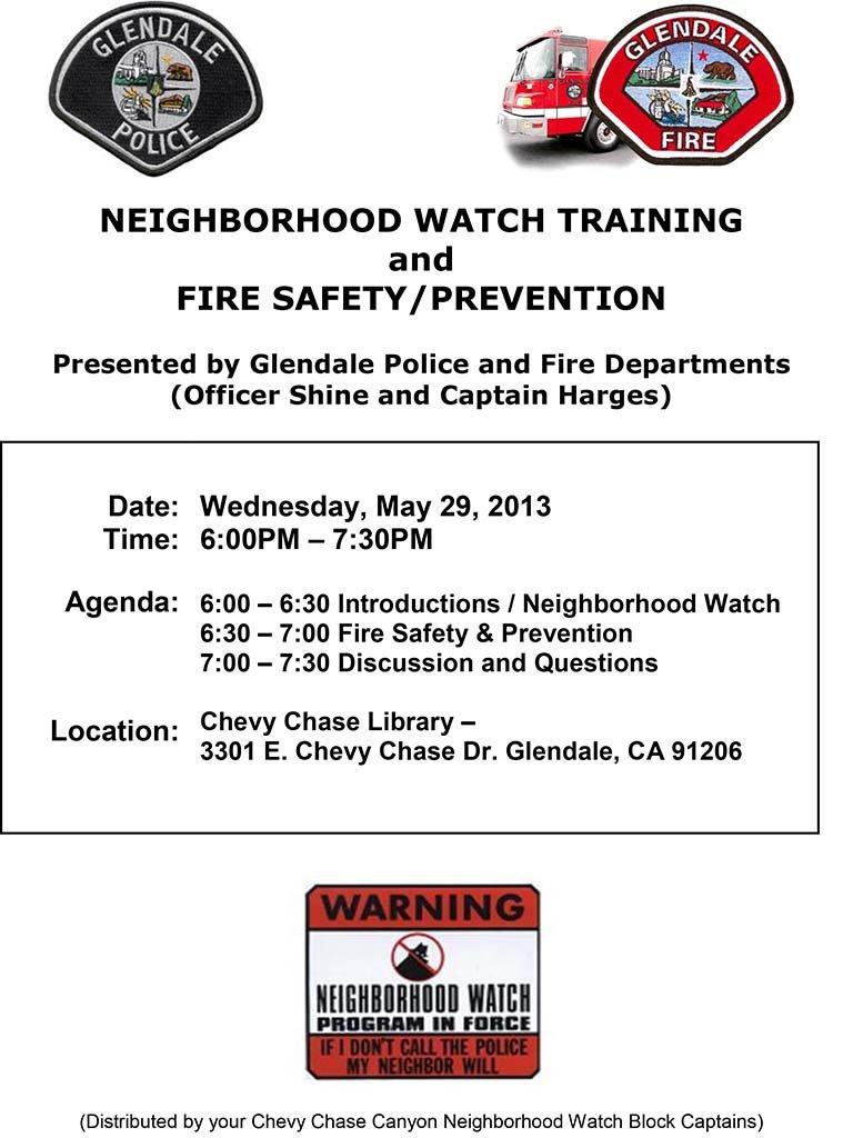 Neighborhood Watch Training Event - 052913