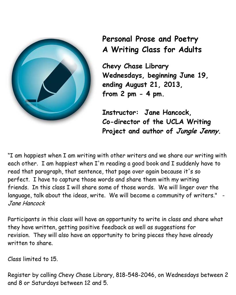 Personal Prose and Poetry
