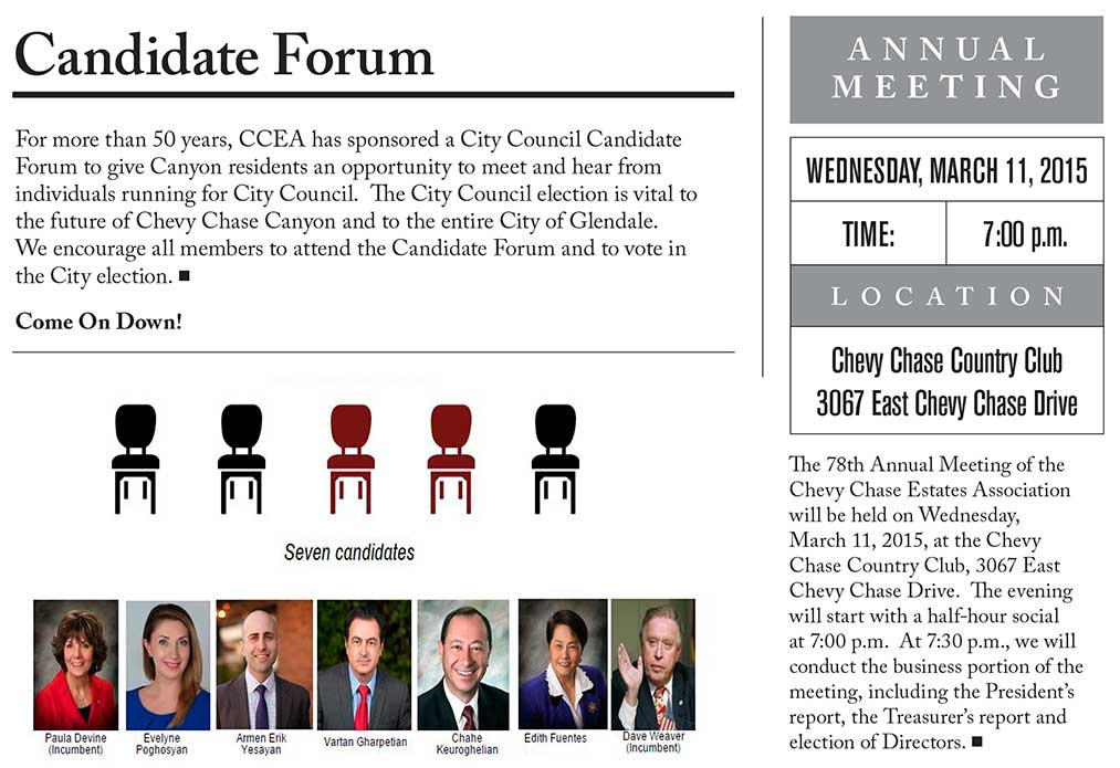 CCEA Annual Meeting and Candidate Forum