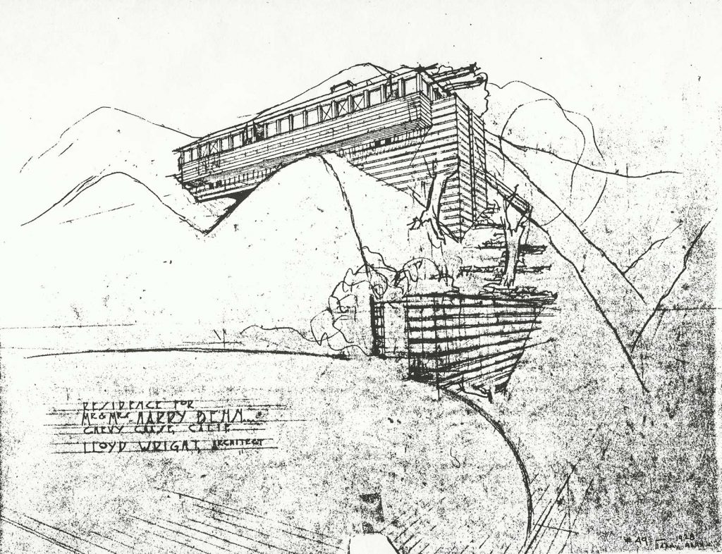 Sketch by Lloyd Wright