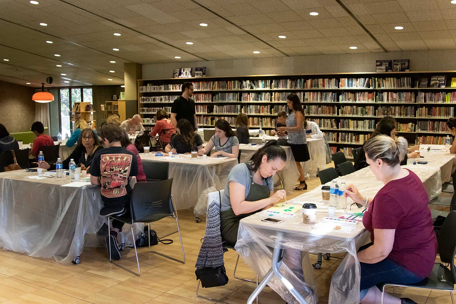 Paint and coffee at the Chevy Chase Library in Glendale, CA.