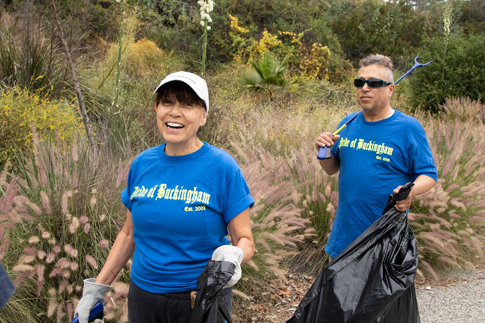 Pride of Buckingham volunteer street cleanup in Glendale, CA