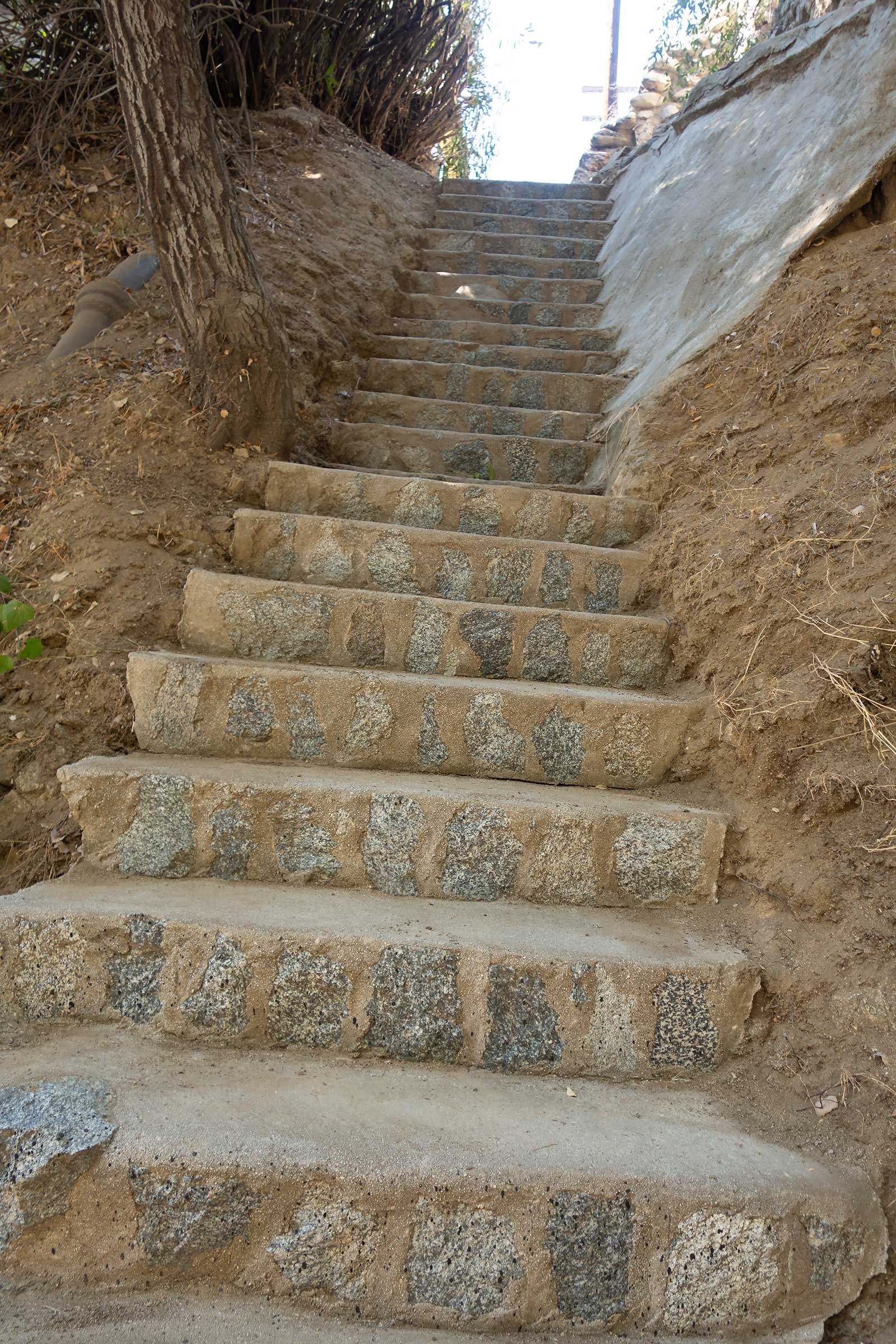 90 year old neighborhood stairway cleaned like new.