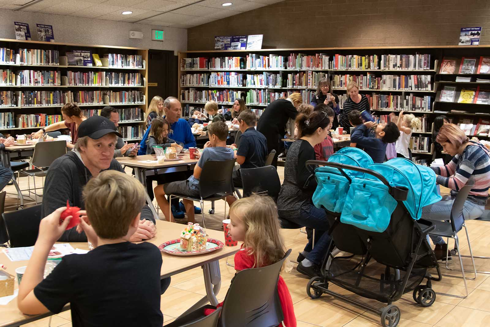 Gingerbread houses at Chevy Chase Library
