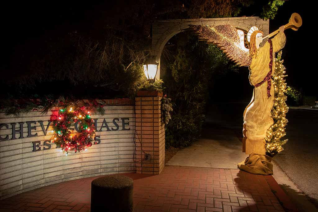 Christmas Angel at Chevy Chase Glendale CA.
